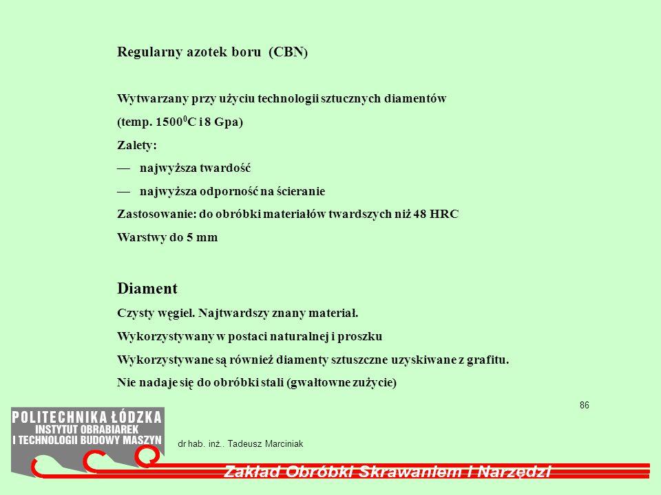 Diament Regularny azotek boru (CBN)
