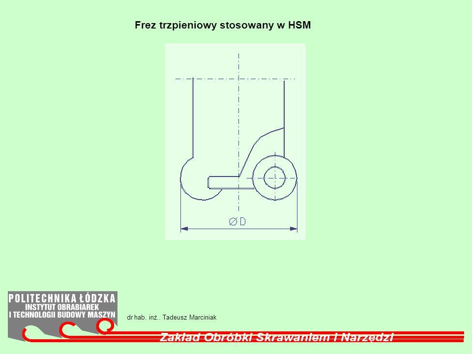 Frez trzpieniowy stosowany w HSM