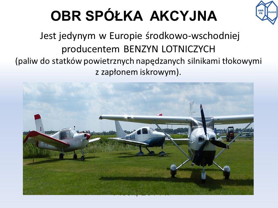 OBR SPÓŁKA AKCYJNA Jest jedynym w Europie środkowo-wschodniej producentem benzyn lotniczych.