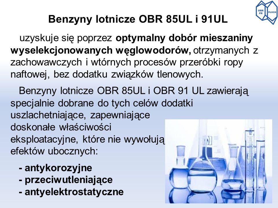 Benzyny lotnicze OBR 85UL i 91UL