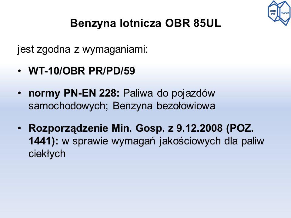Benzyna lotnicza OBR 85UL