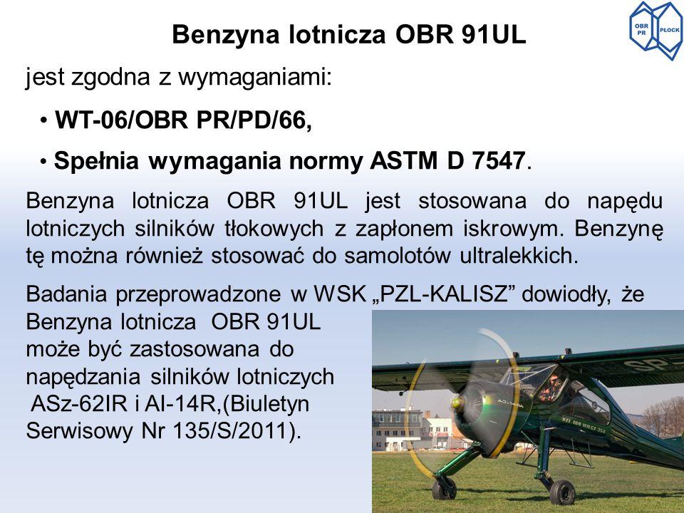Benzyna lotnicza OBR 91UL