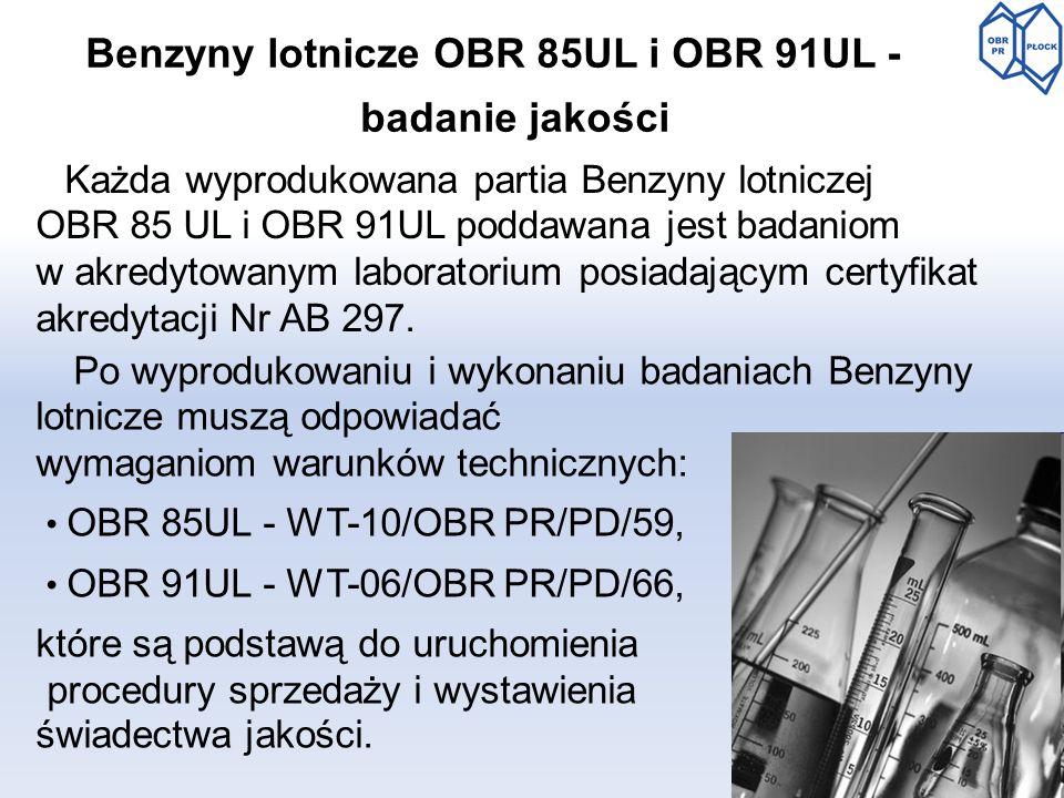 Benzyny lotnicze OBR 85UL i OBR 91UL -