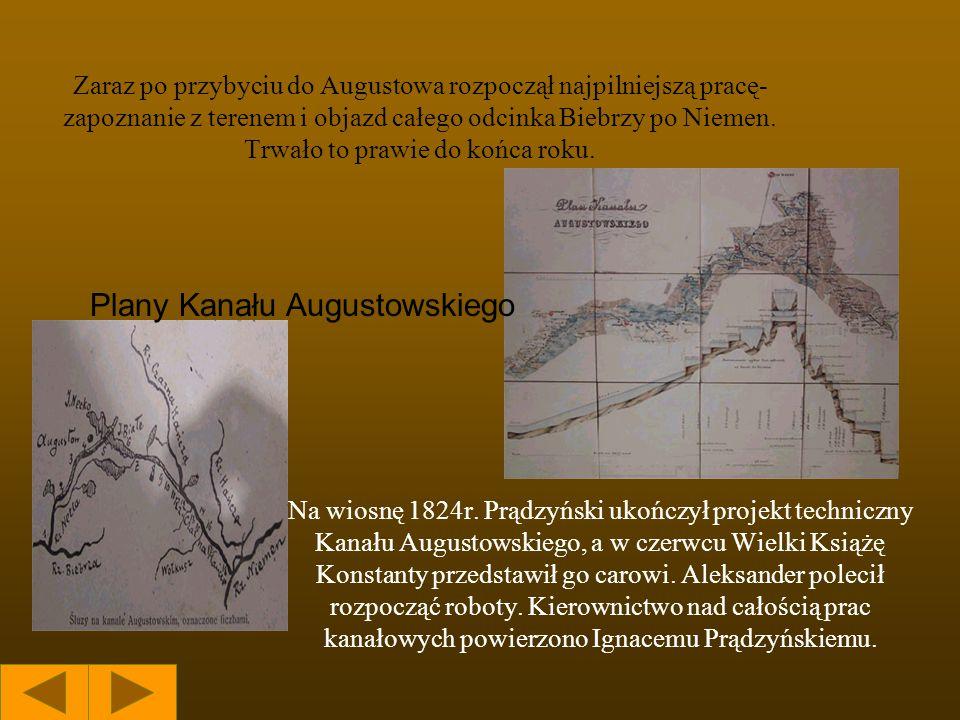 Plany Kanału Augustowskiego