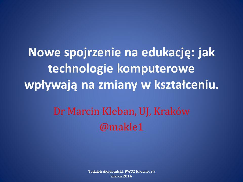 Dr Marcin Kleban, UJ, Kraków @makle1