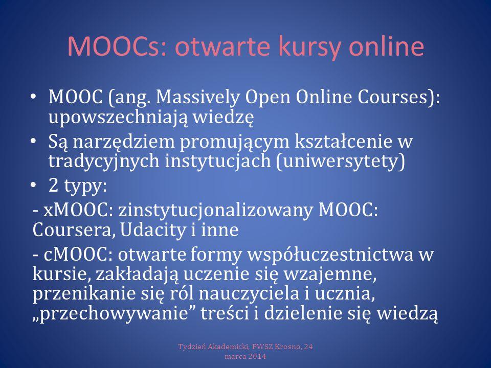 MOOCs: otwarte kursy online