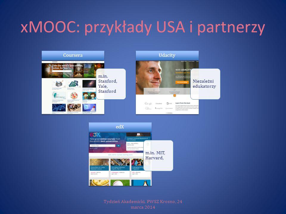 xMOOC: przykłady USA i partnerzy
