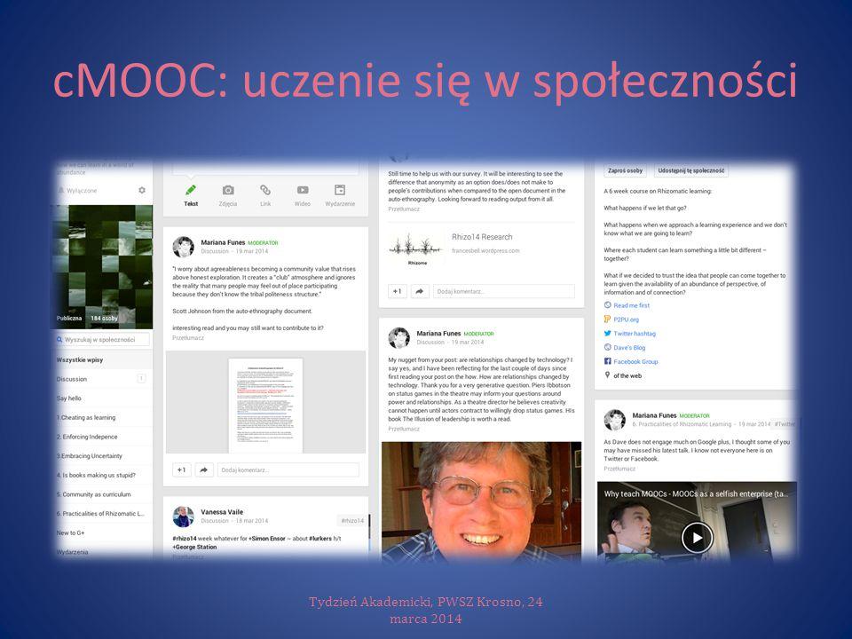 cMOOC: uczenie się w społeczności