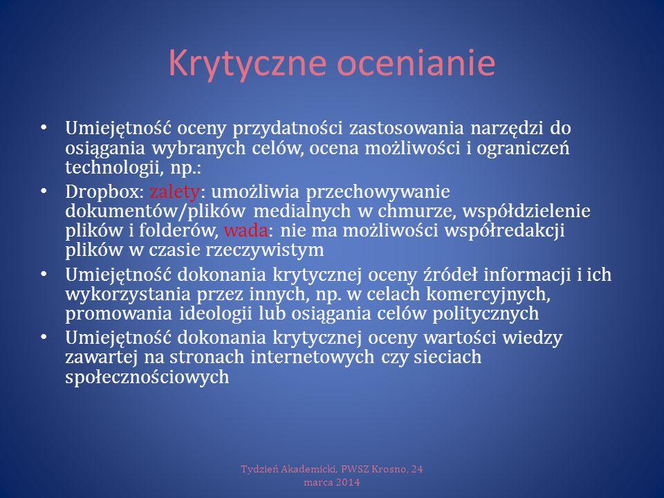 Tydzień Akademicki, PWSZ Krosno, 24 marca 2014