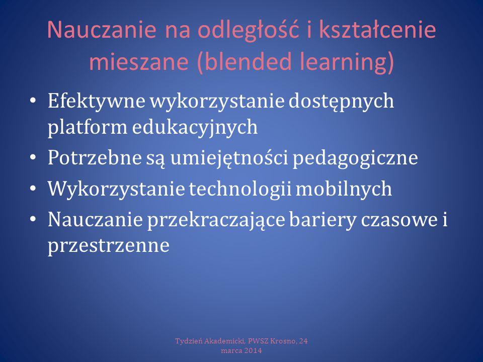 Nauczanie na odległość i kształcenie mieszane (blended learning)