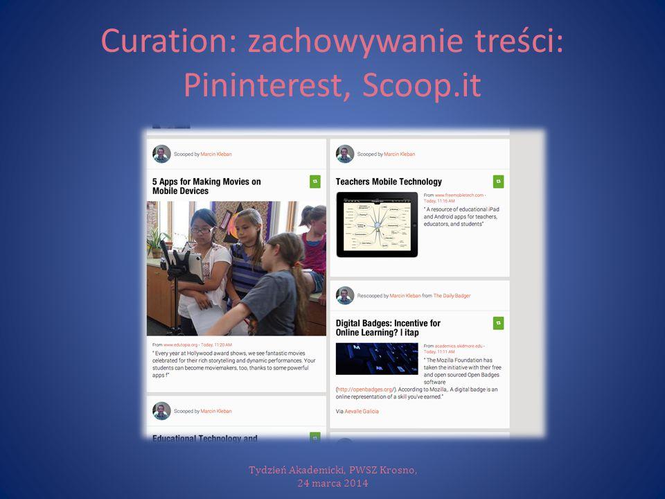 Curation: zachowywanie treści: Pininterest, Scoop.it