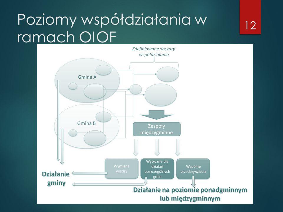 Poziomy współdziałania w ramach OIOF