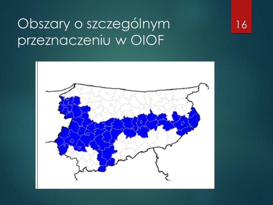 Obszary o szczególnym przeznaczeniu w OIOF