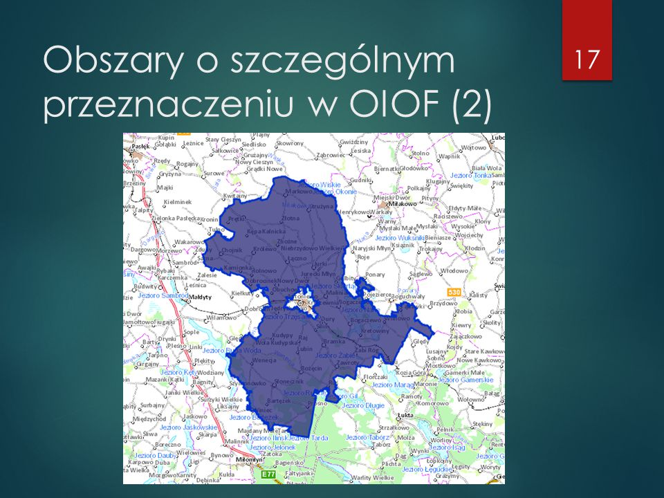 Obszary o szczególnym przeznaczeniu w OIOF (2)