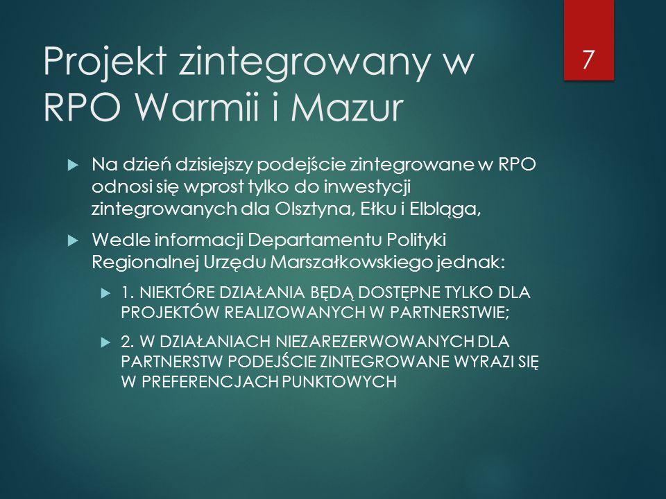 Projekt zintegrowany w RPO Warmii i Mazur
