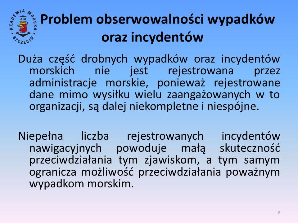 Problem obserwowalności wypadków oraz incydentów