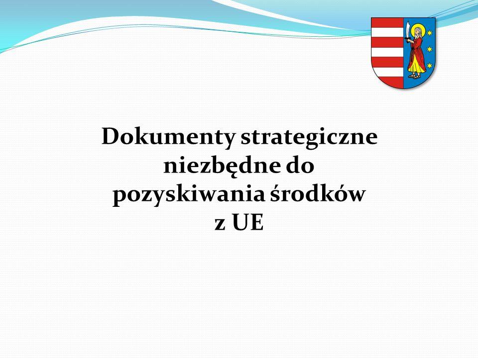 Dokumenty strategiczne niezbędne do pozyskiwania środków
