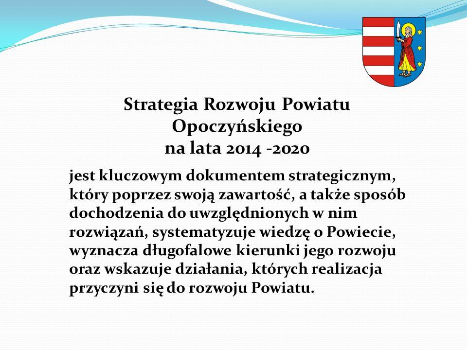 Strategia Rozwoju Powiatu Opoczyńskiego na lata 2014 -2020