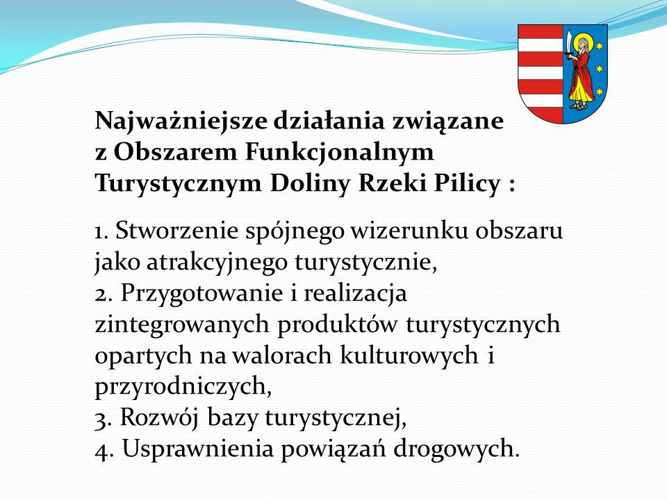 Najważniejsze działania związane z Obszarem Funkcjonalnym Turystycznym Doliny Rzeki Pilicy :