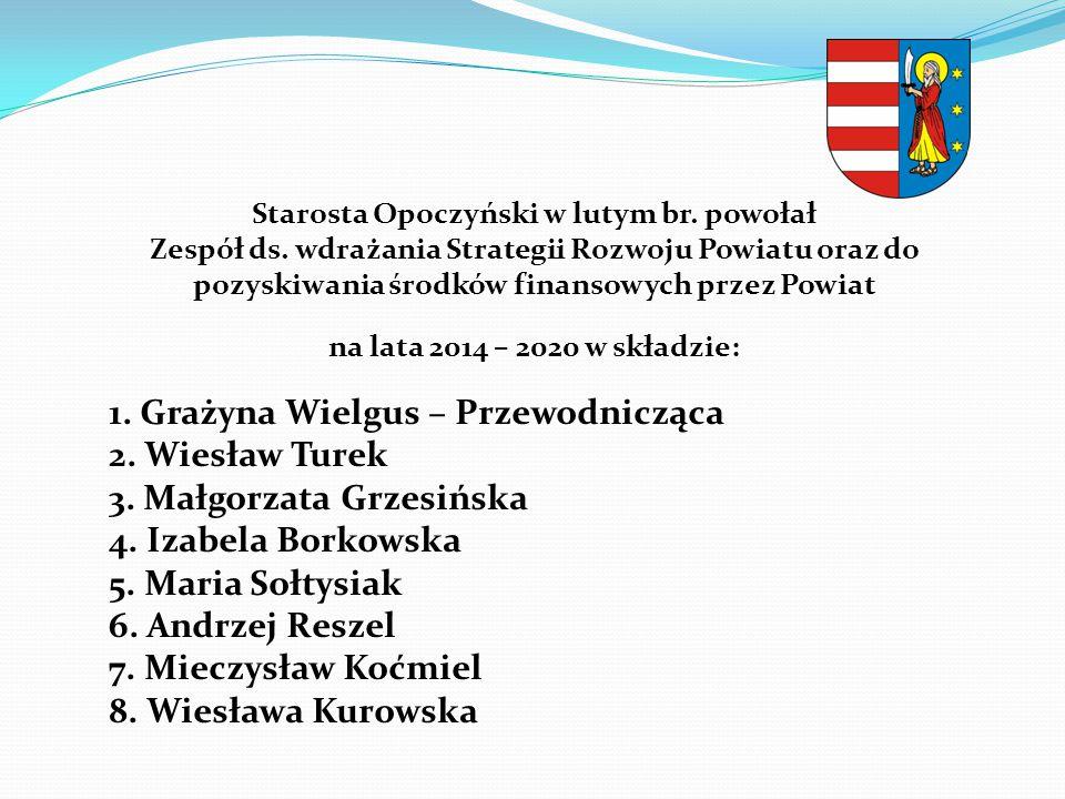 1. Grażyna Wielgus – Przewodnicząca 2. Wiesław Turek