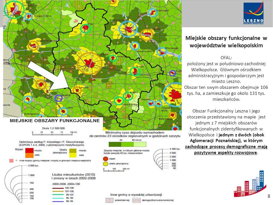 Miejskie obszary funkcjonalne w województwie wielkopolskim