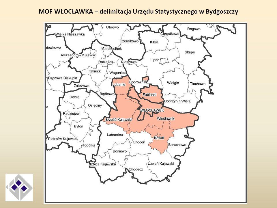 MOF WŁOCŁAWKA – delimitacja Urzędu Statystycznego w Bydgoszczy