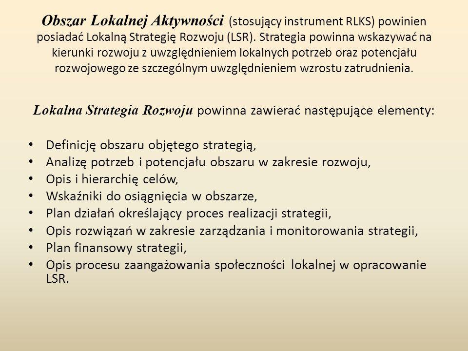 Lokalna Strategia Rozwoju powinna zawierać następujące elementy: