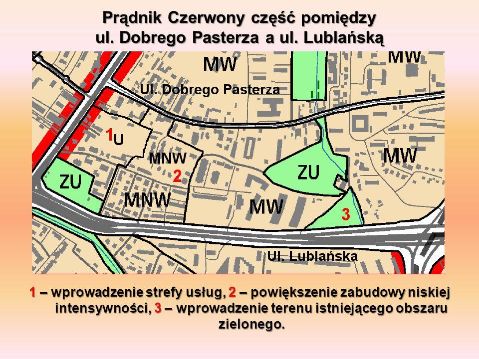 Prądnik Czerwony część pomiędzy ul. Dobrego Pasterza a ul. Lublańską