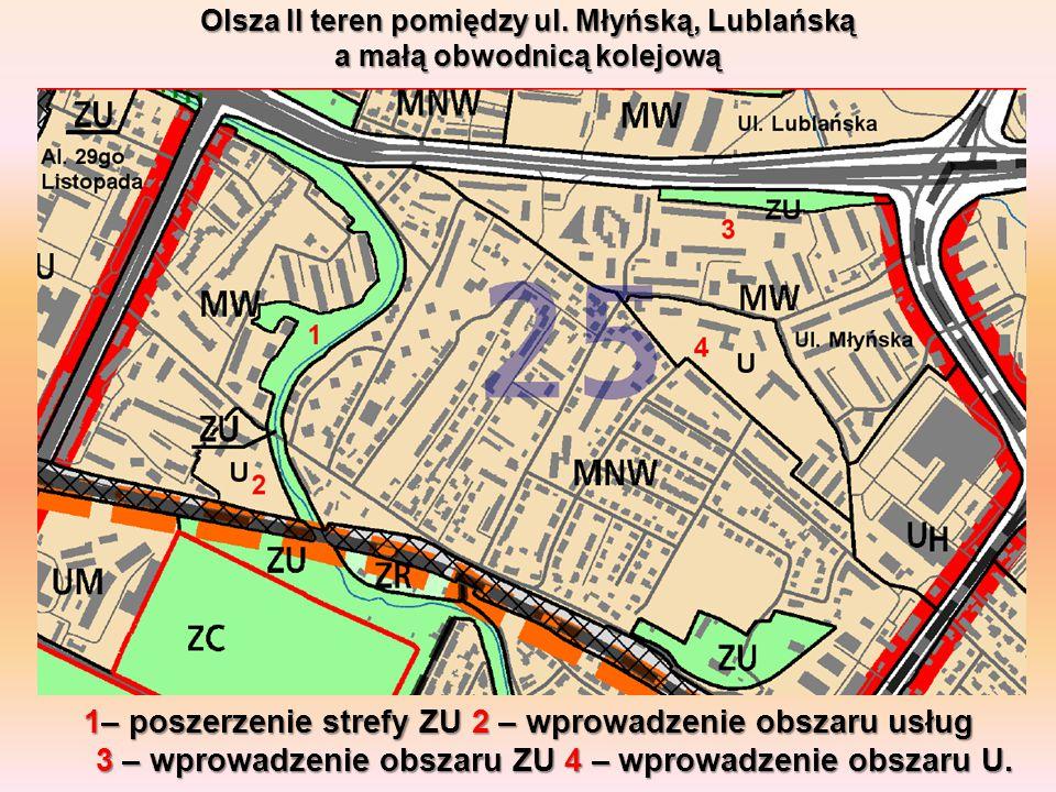 Olsza II teren pomiędzy ul. Młyńską, Lublańską