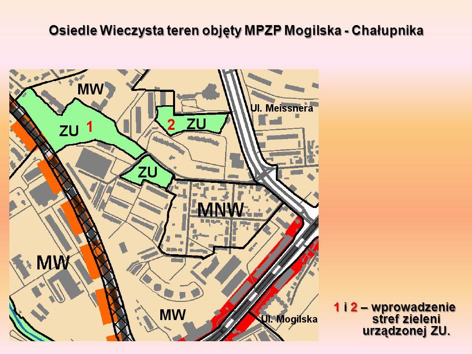 Osiedle Wieczysta teren objęty MPZP Mogilska - Chałupnika