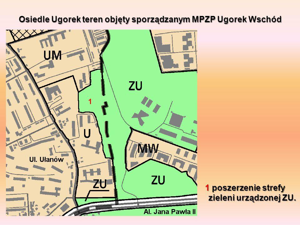 Osiedle Ugorek teren objęty sporządzanym MPZP Ugorek Wschód