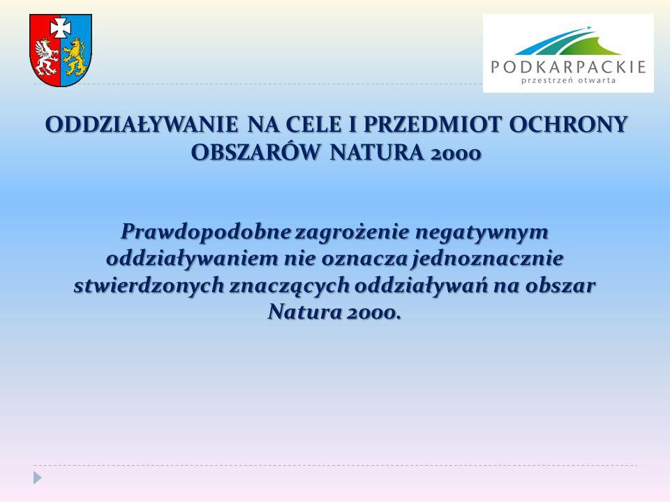 ODDZIAŁYWANIE NA CELE I PRZEDMIOT OCHRONY OBSZARÓW NATURA 2000