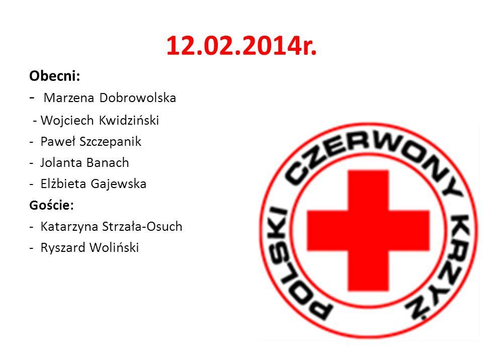 12.02.2014r. Obecni: - Marzena Dobrowolska - Wojciech Kwidziński