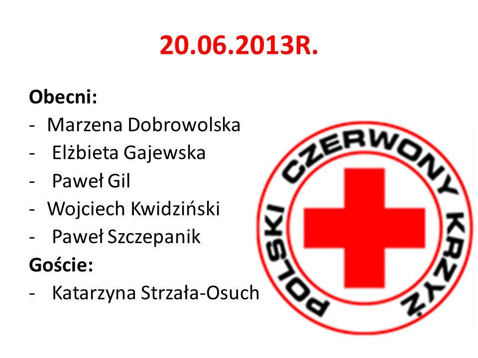 20.06.2013R. Obecni: Marzena Dobrowolska Elżbieta Gajewska Paweł Gil