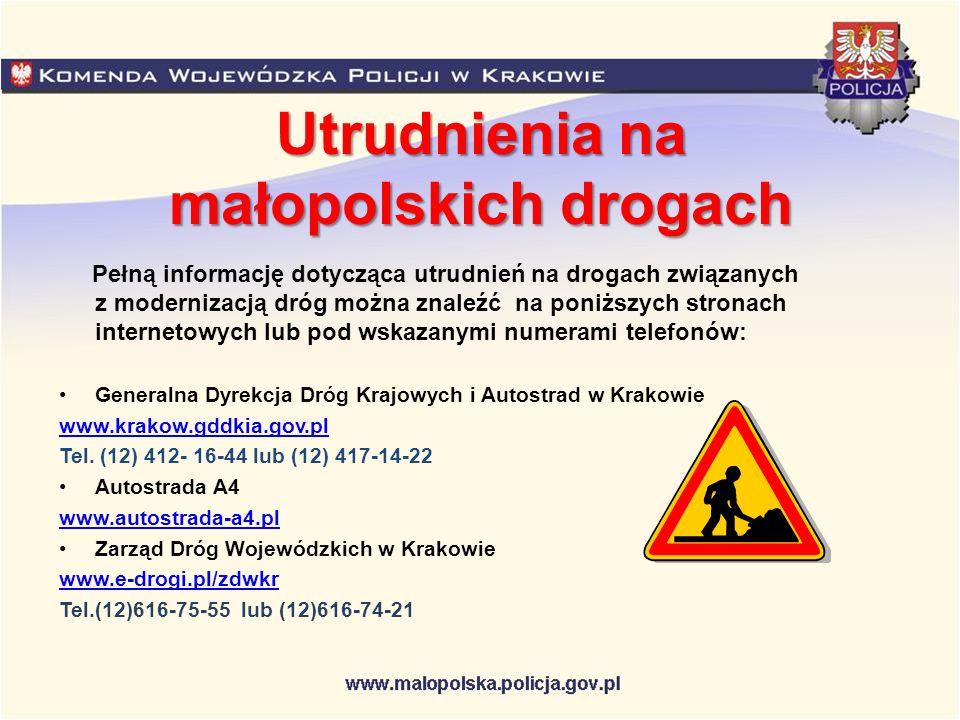 Utrudnienia na małopolskich drogach