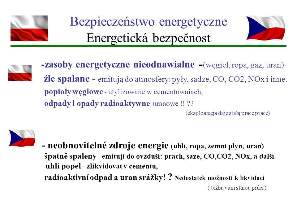 Bezpieczeństwo energetyczne Energetická bezpečnost