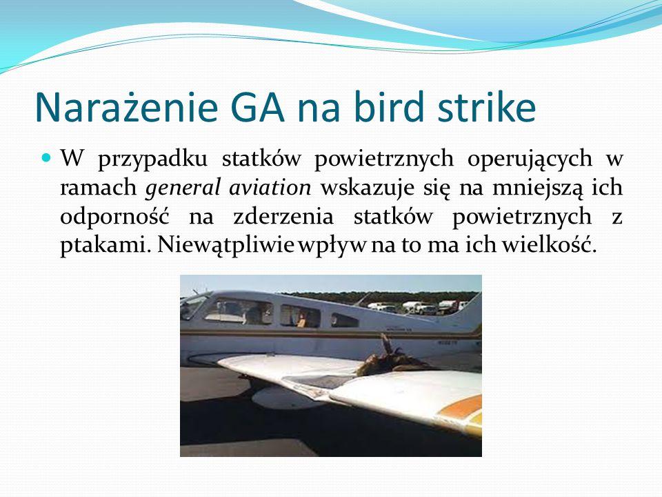 Narażenie GA na bird strike