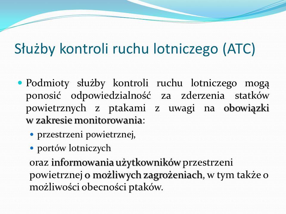 Służby kontroli ruchu lotniczego (ATC)