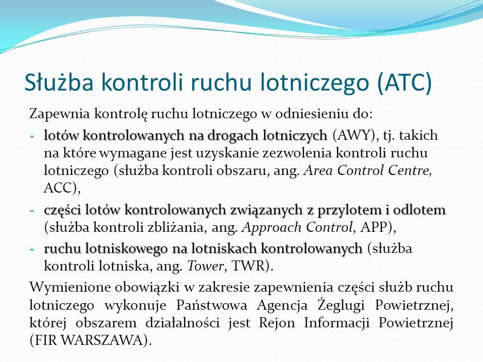 Służba kontroli ruchu lotniczego (ATC)