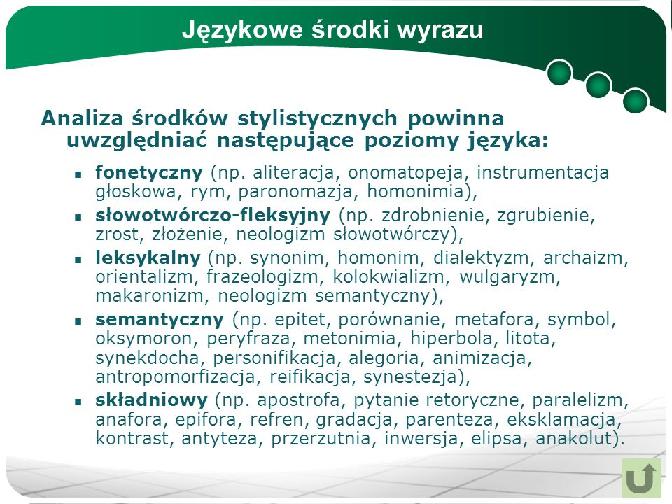 Językowe środki wyrazu