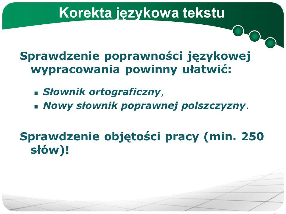 Korekta językowa tekstu