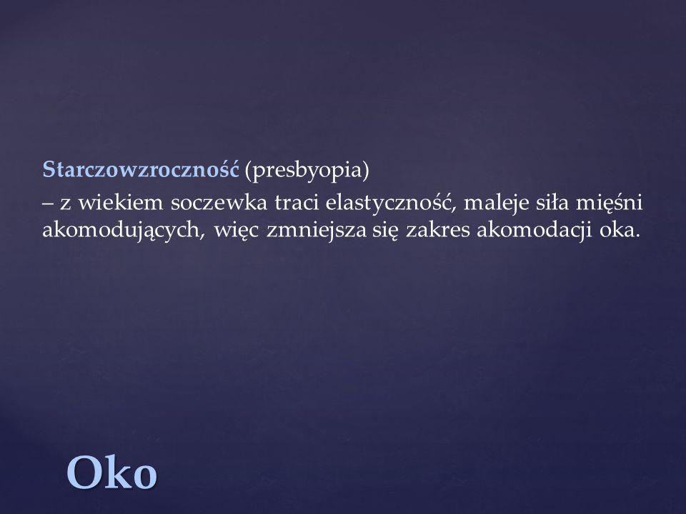 Oko Starczowzroczność (presbyopia)