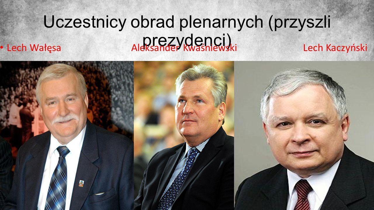 Uczestnicy obrad plenarnych (przyszli prezydenci)