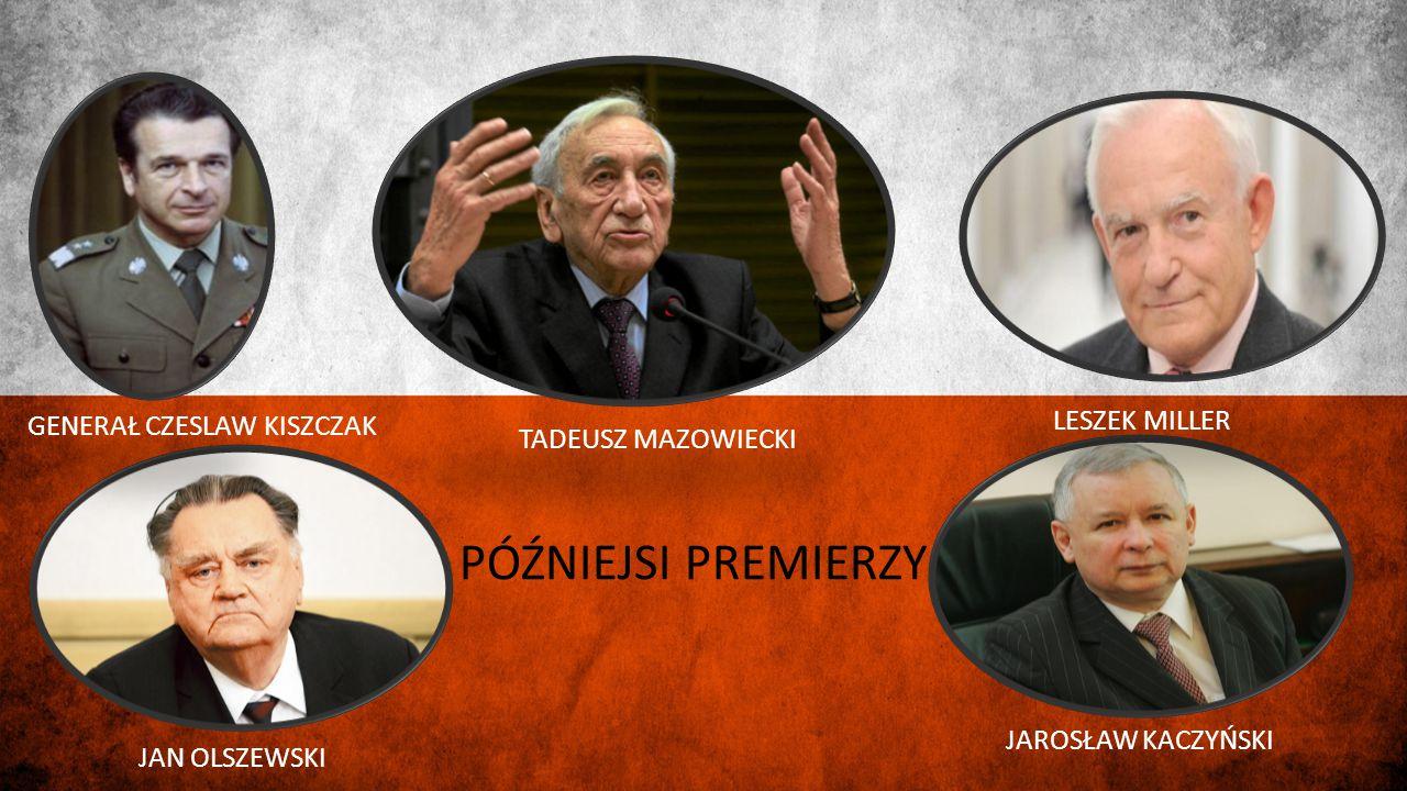 PÓŹNIEJSI PREMIERZY LESZEK MILLER GENERAŁ CZESLAW KISZCZAK