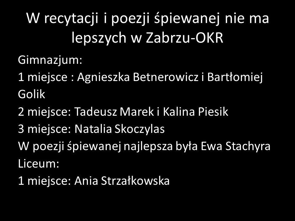W recytacji i poezji śpiewanej nie ma lepszych w Zabrzu-OKR
