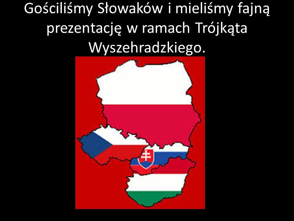 Gościliśmy Słowaków i mieliśmy fajną prezentację w ramach Trójkąta Wyszehradzkiego.