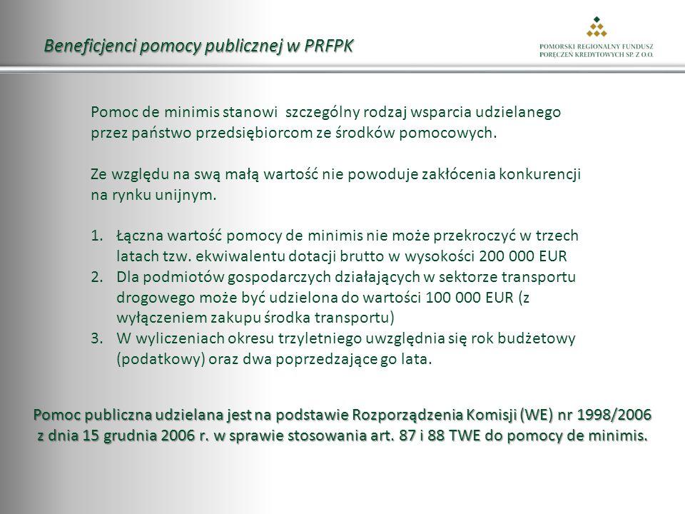 Beneficjenci pomocy publicznej w PRFPK