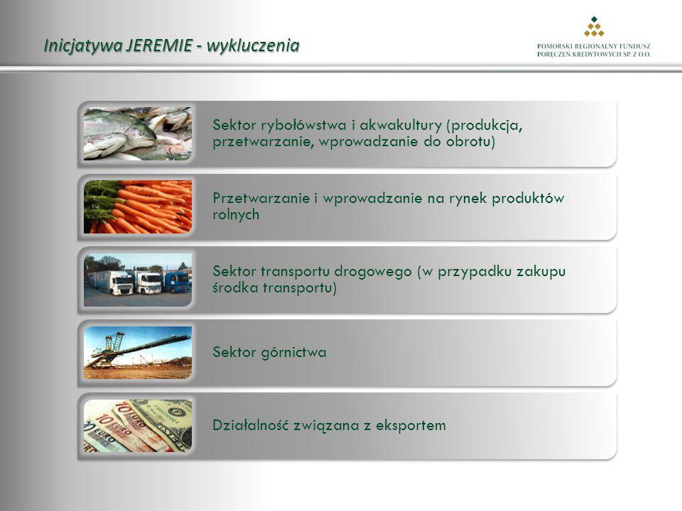 Inicjatywa JEREMIE - wykluczenia