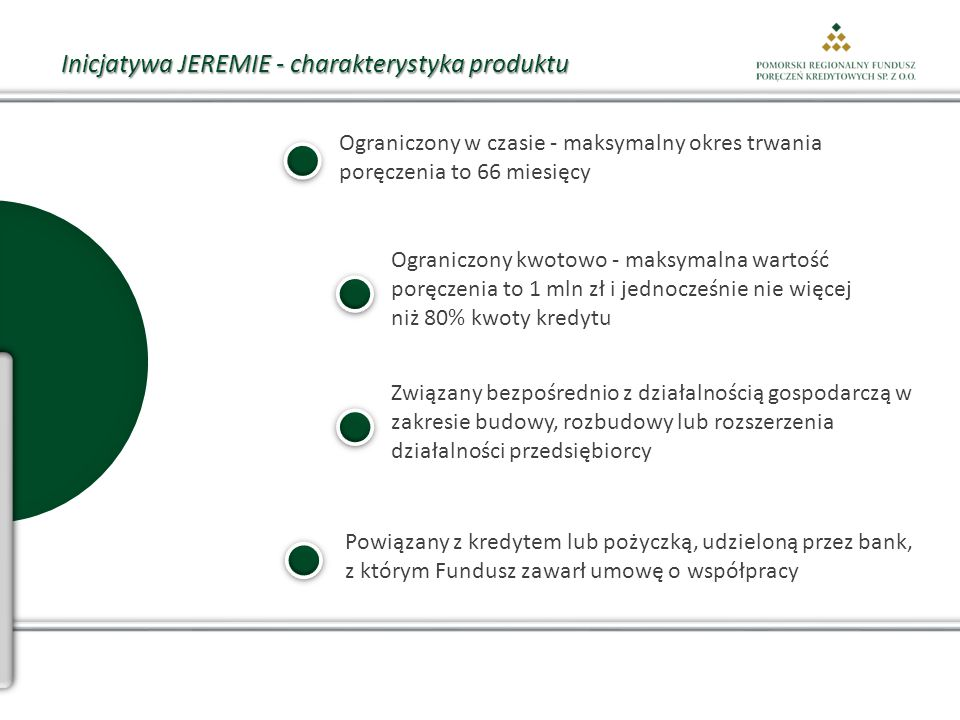 Inicjatywa JEREMIE - charakterystyka produktu