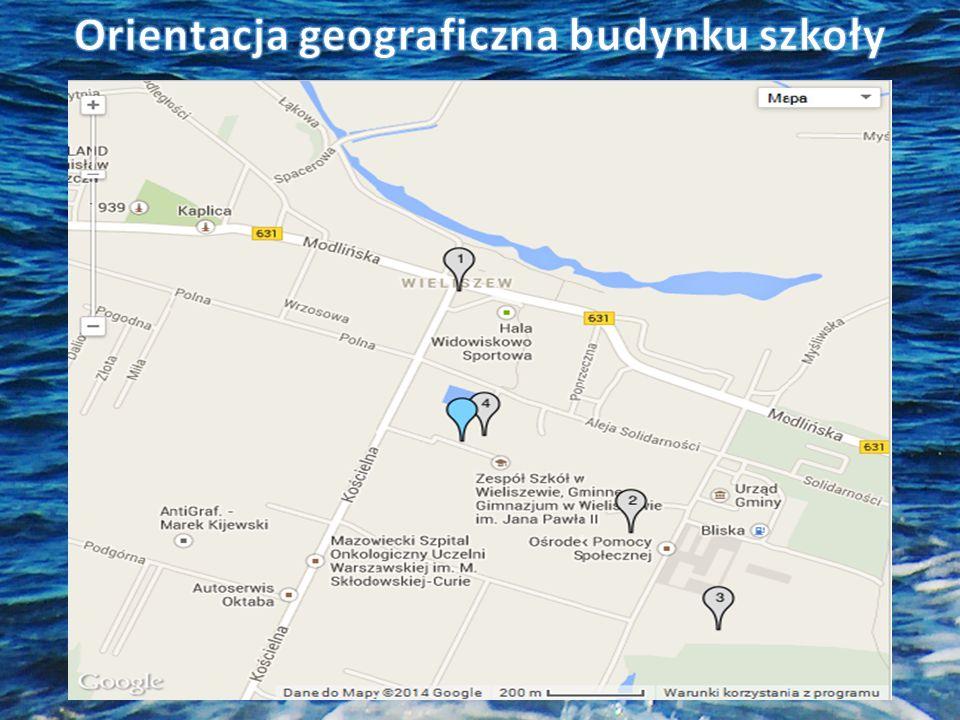 Orientacja geograficzna budynku szkoły